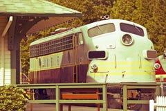 Винтажный двигатель поезда Стоковое фото RF
