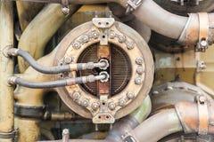 Винтажный двигатель поршеня Стоковая Фотография RF