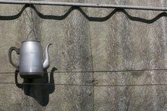 Винтажный вид чайника Стоковое Фото