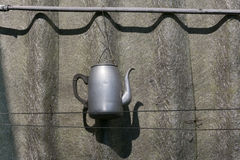 Винтажный вид чайника Стоковое фото RF