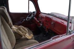 Винтажный внутренний автомобиль Стоковая Фотография