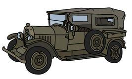 Винтажный воинский автомобиль Стоковое Фото