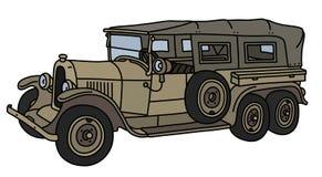 Винтажный воинский длинный автомобиль Стоковое Фото