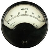 Винтажный вольтметр Стоковое Изображение RF