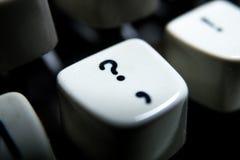 Винтажный выделенный ключ вопросительного знака Стоковые Изображения RF