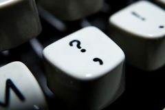 Винтажный выделенный ключ вопросительного знака Стоковое Изображение RF