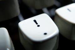Винтажный выделенный ключ восклицательного знака Стоковое Изображение