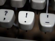 Винтажный выделенный ключ восклицательного знака Стоковое фото RF