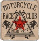 Винтажный график футболки мотоцикла Стоковая Фотография RF