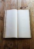 Винтажный гроссбух открытый к пустым страницам стоковая фотография rf