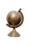 Винтажный глобус металла Стоковые Фотографии RF
