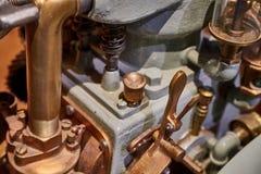 Винтажный двигатель шлюпки стоковые фотографии rf