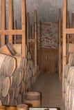 Винтажный деревянный запас черного порошка бочонка стоковые фотографии rf