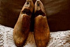 Винтажный деревянный растяжитель ботинка или дерево ботинка стоковое фото