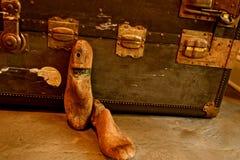 Винтажный деревянный растяжитель ботинка или дерево ботинка стоковые фотографии rf