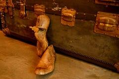 Винтажный деревянный растяжитель ботинка или дерево ботинка стоковое изображение