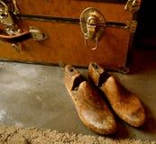 Винтажный деревянный растяжитель ботинка или дерево ботинка стоковое фото rf