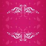 Винтажный дизайн вектора рамок приглашения свадьбы стоковые изображения rf