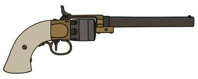 Винтажный длинный револьвер Стоковая Фотография RF
