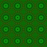 Винтажный декоративный орнамент на зеленой предпосылке Стоковое Изображение RF