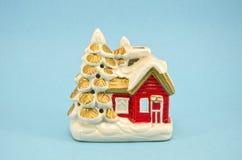 Винтажный декоративный подсвечник дома рождества Стоковая Фотография RF