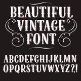 Винтажный декоративный шрифт Стоковое Фото