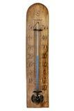 Винтажный деревянный барометр Стоковое фото RF