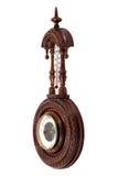 Винтажный деревянный барометр Стоковые Изображения RF