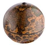 Винтажный деревянный земный глобус Стоковые Фотографии RF