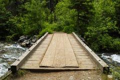 Винтажный деревянный мост Стоковое фото RF