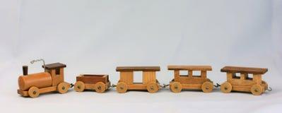 Винтажный деревянный поезд игрушки Стоковое Фото
