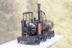 Винтажный западный модельный поезд Стоковое Изображение