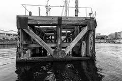 Винтажный залив a стыковки Стоковые Изображения