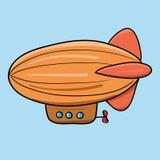 Винтажный Зеппелин иллюстрация Стоковые Фото