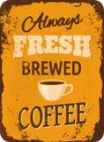 Винтажный знак олова кофе Стоковое Изображение