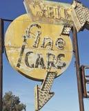 Винтажный знак серии подержанного автомобиля Стоковые Изображения