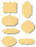 Винтажный значок и ярлык рамки от старой бумаги Стоковая Фотография