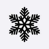 Винтажный значок черноты снежинки Стоковые Изображения