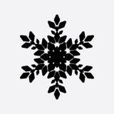 Винтажный значок черноты снежинки Стоковое Изображение RF