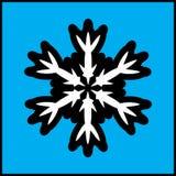 Винтажный значок черноты снежинки Стоковое фото RF