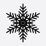 Винтажный значок черноты снежинки Стоковое Фото