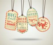 Винтажный дизайн бирок продажи бесплатная иллюстрация