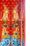 Винтажный дизайн картины божества на старых деревянных дверях Стоковое Изображение RF