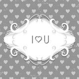 Винтажный дизайн карточки дня валентинки стиля Стоковое Изображение RF
