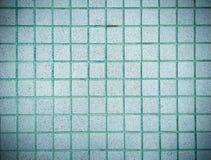 Винтажный дизайн стиля голубой стены текстуры плитки мозаики Стоковое Фото