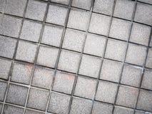 Винтажный дизайн стиля серого пола текстуры плитки мозаики Стоковые Изображения