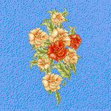 Винтажный дизайн с оранжевыми и сметанообразными розами Стоковые Фотографии RF