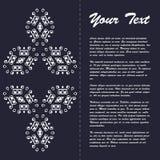 Винтажный дизайн шаблона брошюры стиля с восточным орнаментом Стоковая Фотография RF
