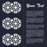 Винтажный дизайн шаблона брошюры стиля с восточным орнаментом Стоковое Изображение