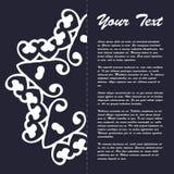 Винтажный дизайн шаблона брошюры стиля с восточным орнаментом Стоковые Изображения RF